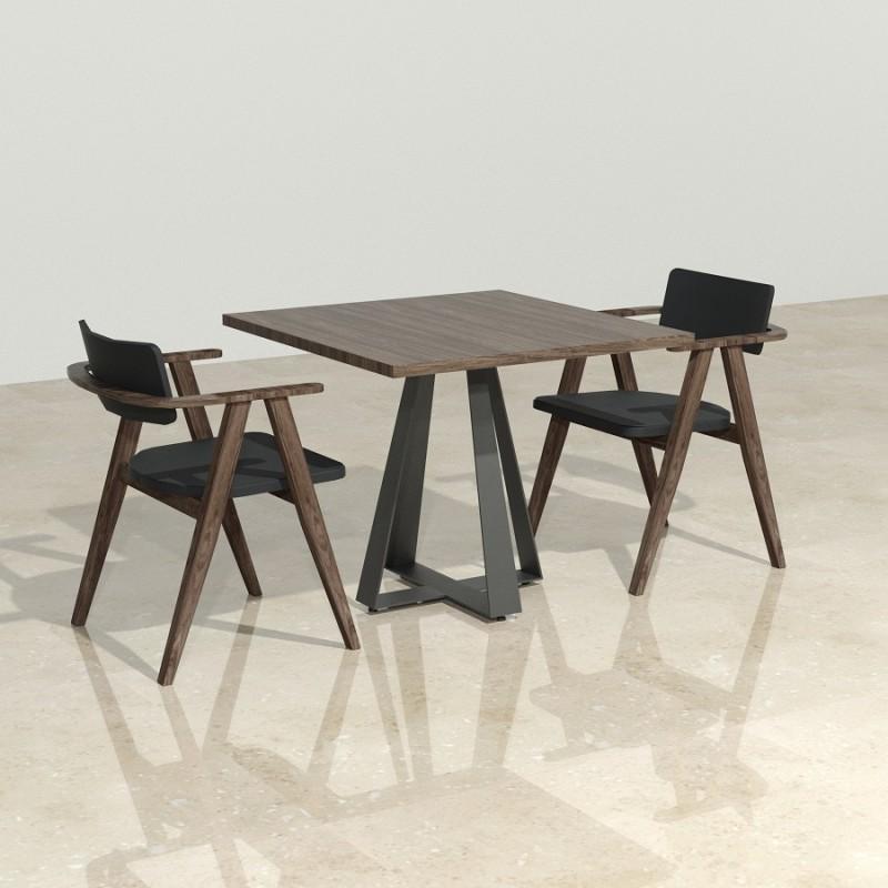 Base pedestal para mesa base 75 cms